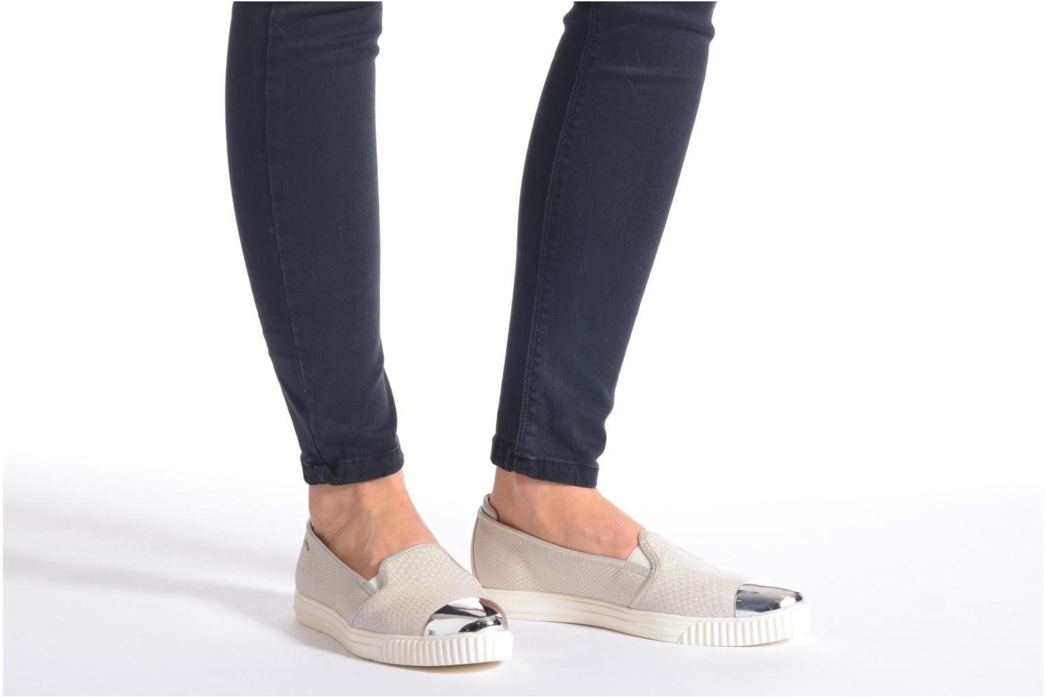 Loafers Geox D AMALTHIA D D621MD Grey view from underneath / model view
