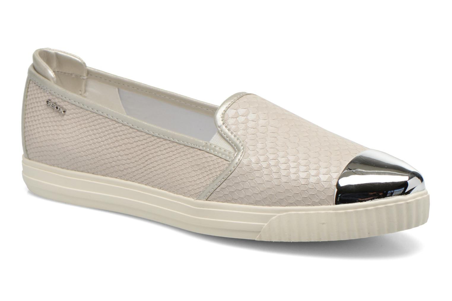 Loafers Geox D AMALTHIA D D621MD Grey detailed view/ Pair view