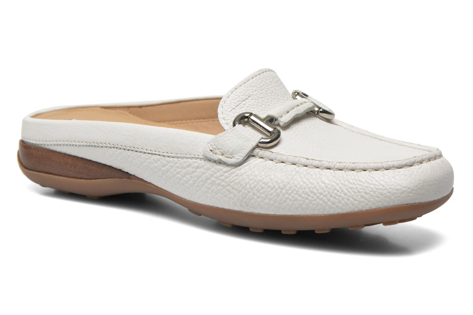 Mules & clogs Geox D EURO C D6245C White detailed view/ Pair view