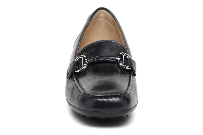 Mocassins Geox D EUXO D D6245D Bleu vue portées chaussures