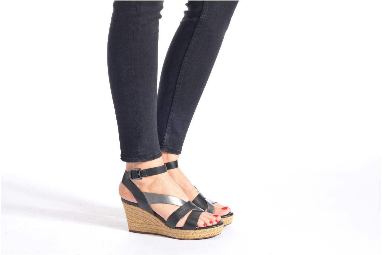 Sandali e scarpe aperte Geox D SOLEIL C D62N7C Nero immagine dal basso