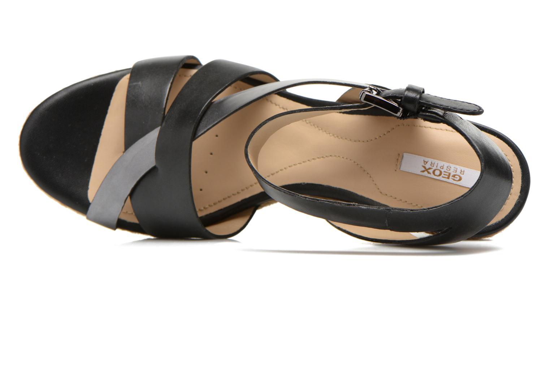 Sandali e scarpe aperte Geox D SOLEIL C D62N7C Nero immagine sinistra