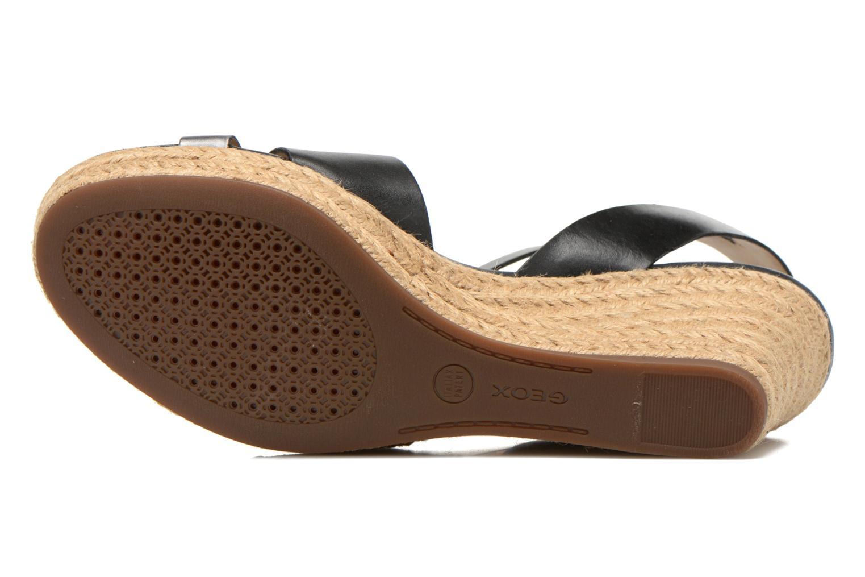 Sandali e scarpe aperte Geox D SOLEIL C D62N7C Nero immagine dall'alto