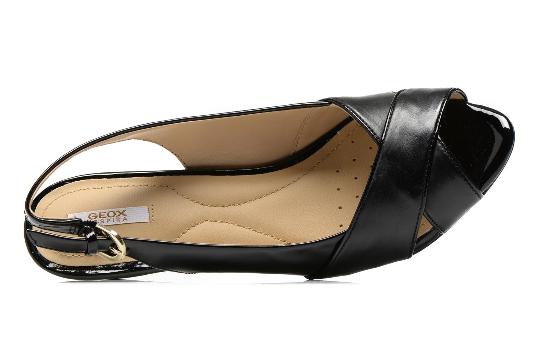 Sandales et nu-pieds Geox D FLORALIE B D62T4B Noir vue gauche