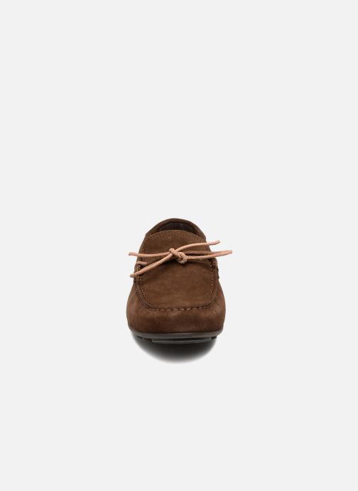 Mocassins Geox U GIONA D U620XD Marron vue portées chaussures