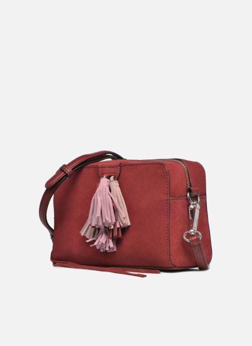 Sacs à main Rebecca Minkoff Mini Sofia Crossbody Bordeaux vue portées chaussures