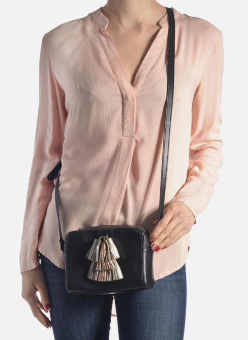 Handbags Rebecca Minkoff Mini Sofia Crossbody Black view from underneath / model view