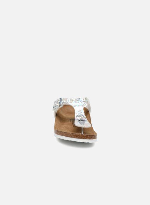 Flip flops & klipklapper Birkenstock Gizeh Birko Flor Sølv se skoene på