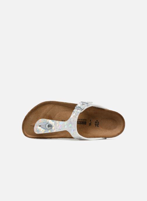 Flip flops & klipklapper Birkenstock Gizeh Birko Flor Sølv se fra venstre