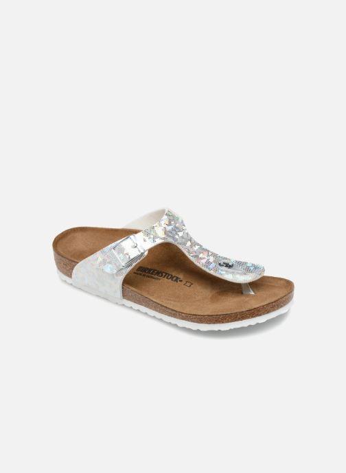 Flip flops & klipklapper Birkenstock Gizeh Birko Flor Sølv detaljeret billede af skoene