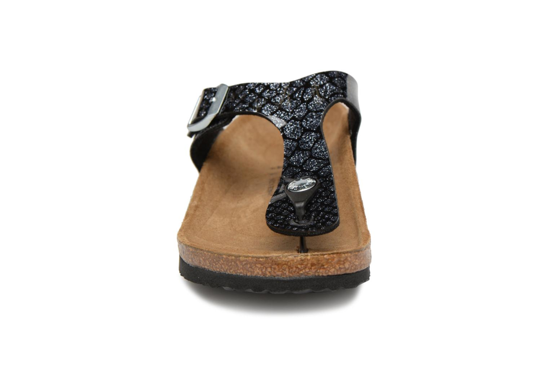 Flip flops & klipklapper Birkenstock Gizeh Birko Flor Sort se skoene på