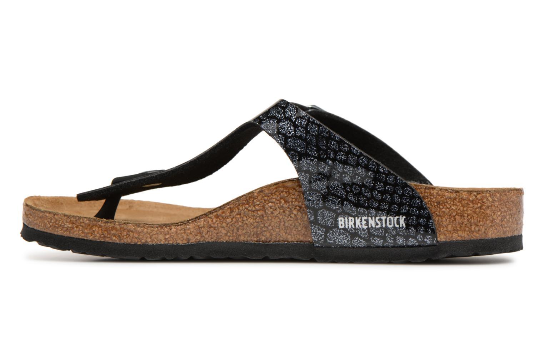Flip flops & klipklapper Birkenstock Gizeh Birko Flor Sort se forfra