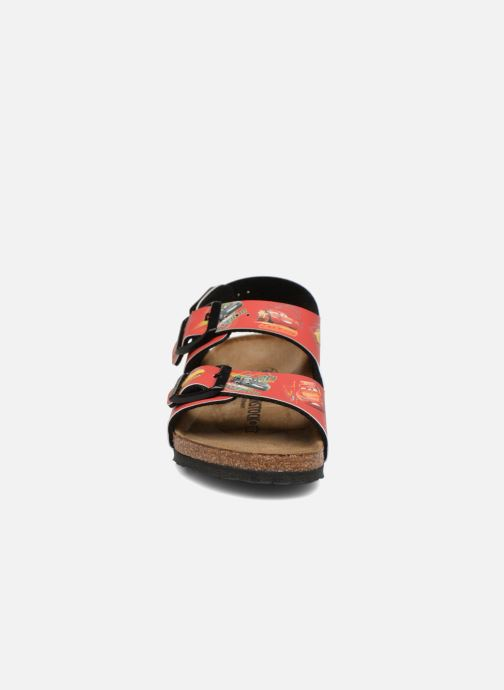 Sandales et nu-pieds Birkenstock Milano Kids Rouge vue portées chaussures
