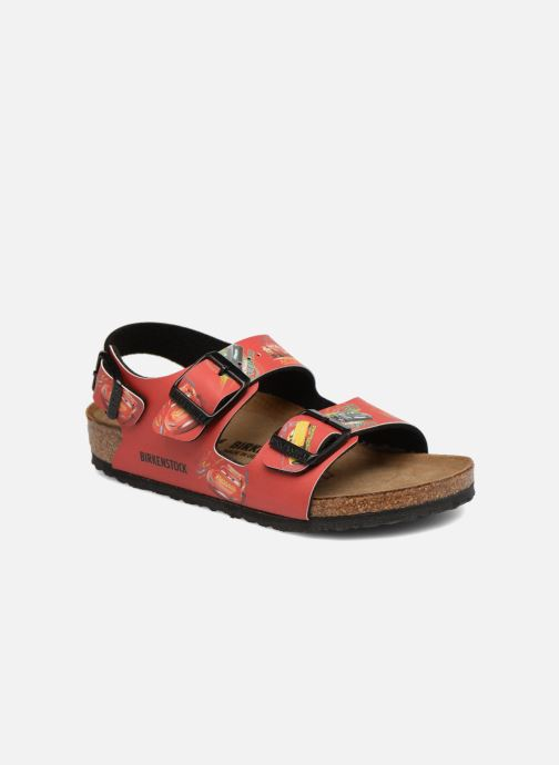 Sandales et nu-pieds Birkenstock Milano Kids Rouge vue détail/paire
