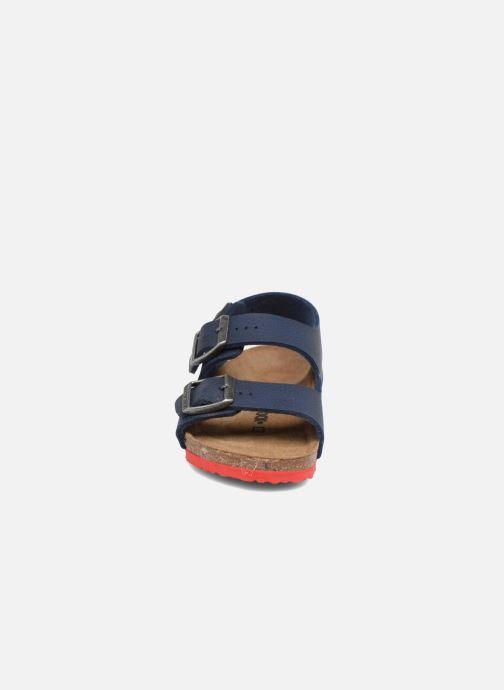 Sandali e scarpe aperte Birkenstock Milano Kids Azzurro modello indossato