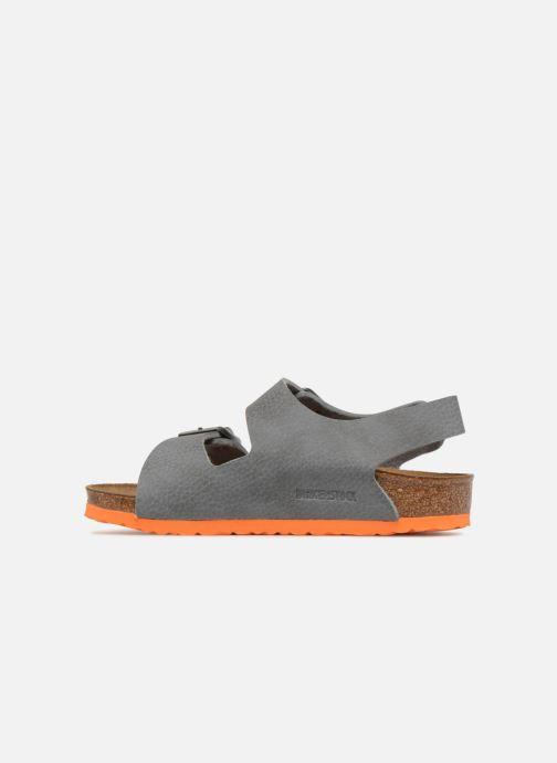 Sandales et nu-pieds Birkenstock Milano Birko Flor Gris vue face