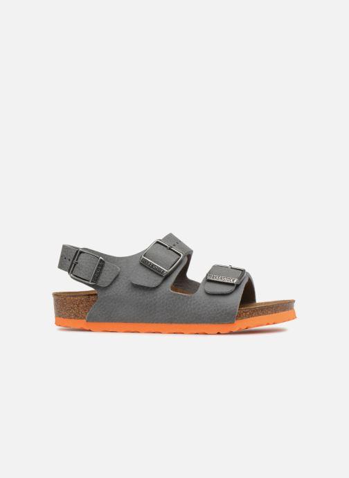 Sandales et nu-pieds Birkenstock Milano Birko Flor Gris vue derrière
