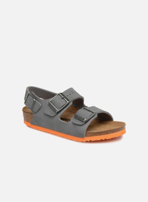 Sandales et nu-pieds Birkenstock Milano Birko Flor Gris vue détail/paire