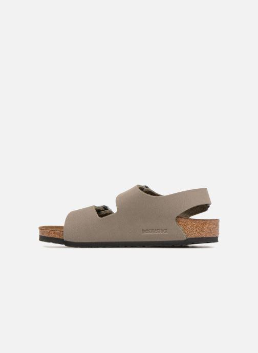 Sandales et nu-pieds Birkenstock Milano Birko Flor Vert vue face