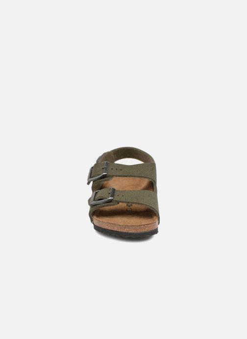 Sandales et nu-pieds Birkenstock Milano Kids Vert vue portées chaussures