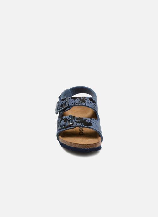 Sandales et nu-pieds Birkenstock Milano Kids Bleu vue portées chaussures