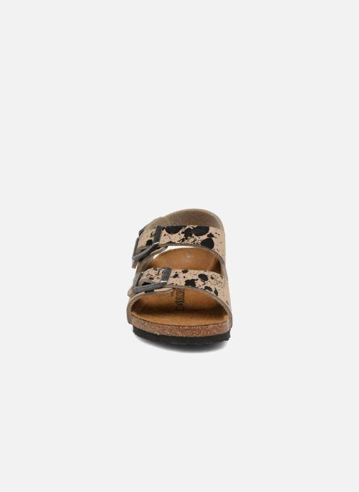 Sandales et nu-pieds Birkenstock Milano Birko Flor Beige vue portées chaussures