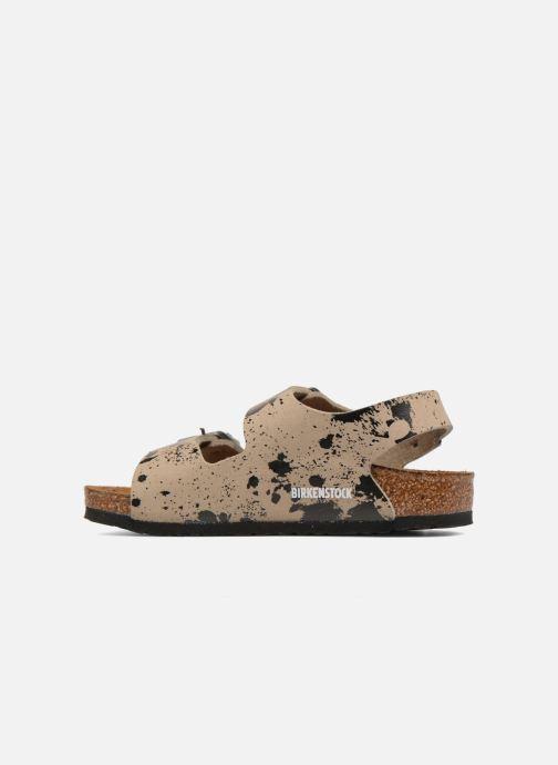 Sandales et nu-pieds Birkenstock Milano Birko Flor Beige vue face