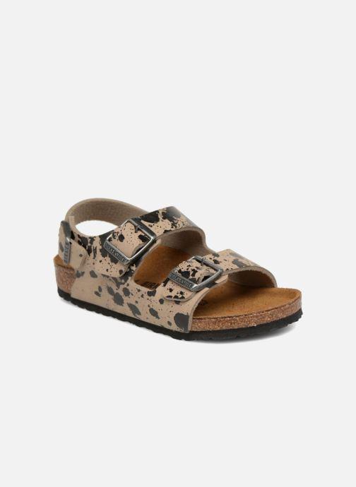Sandales et nu-pieds Birkenstock Milano Birko Flor Beige vue détail/paire