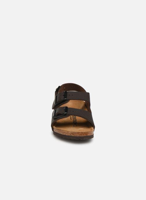 Sandales et nu-pieds Birkenstock Milano Kids Marron vue portées chaussures