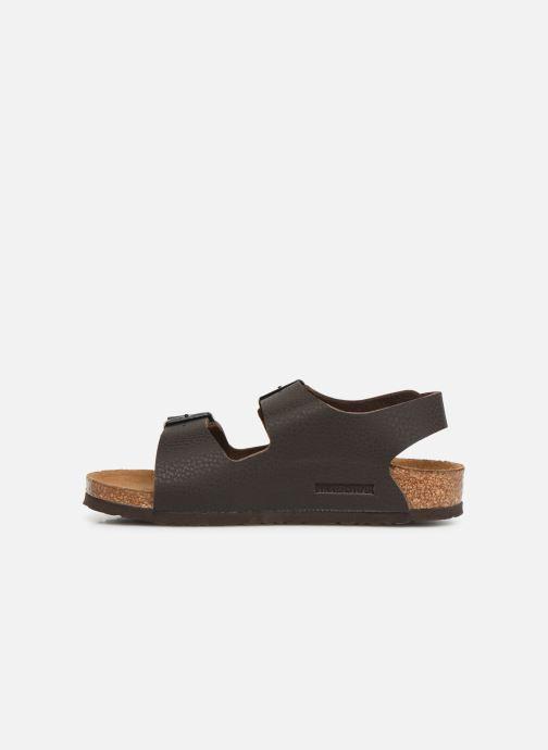 Sandales et nu-pieds Birkenstock Milano Birko Flor Marron vue face