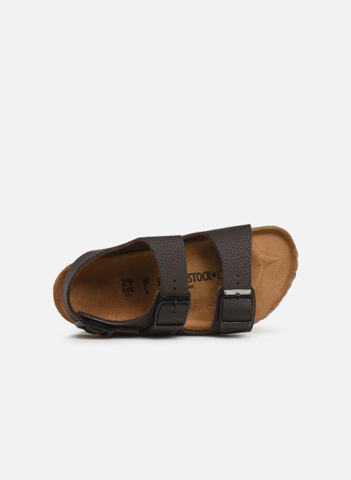 Sandales et nu-pieds Birkenstock Milano Birko Flor Marron vue gauche
