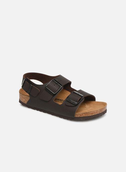 Sandales et nu-pieds Birkenstock Milano Birko Flor Marron vue détail/paire