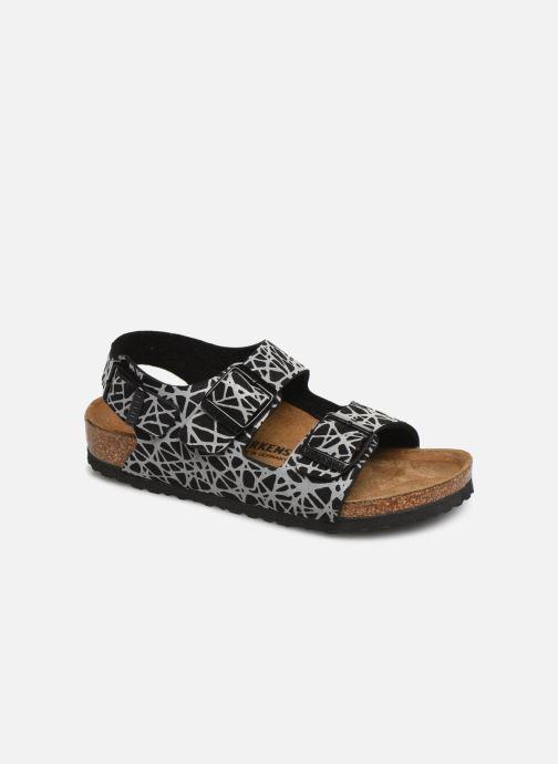 Sandales et nu-pieds Birkenstock Milano Birko Flor Noir vue détail/paire