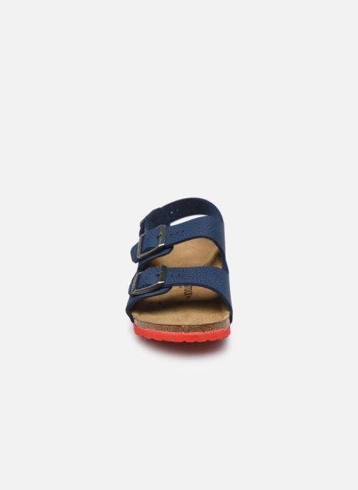 Sandales et nu-pieds Birkenstock Milano Birko Flor Bleu vue portées chaussures