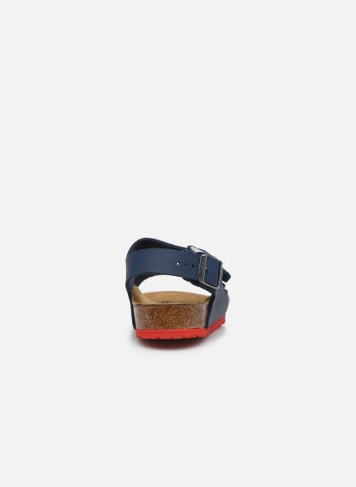 Sandales et nu-pieds Birkenstock Milano Birko Flor Bleu vue droite