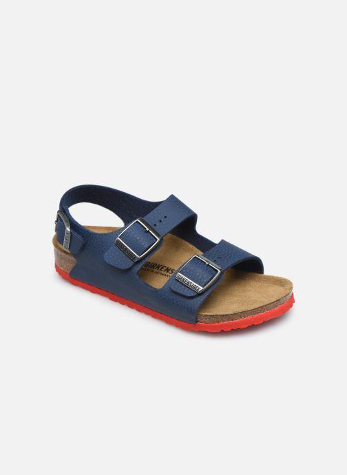 Sandales et nu-pieds Birkenstock Milano Birko Flor Bleu vue détail/paire