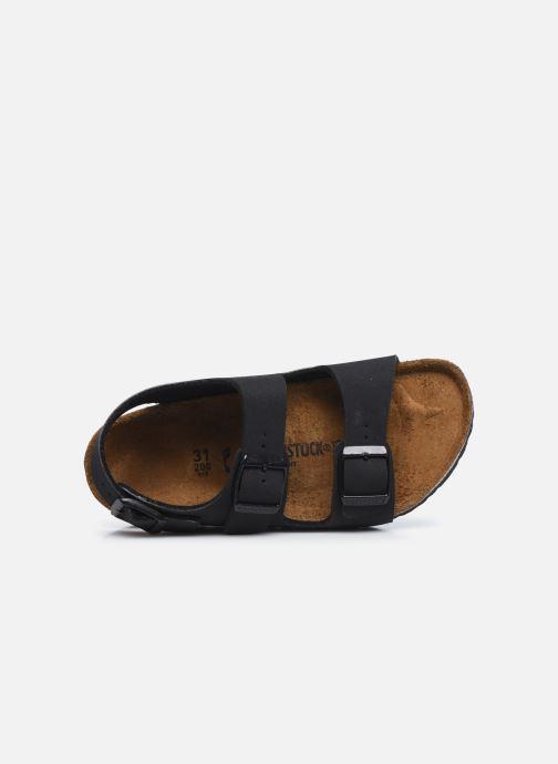 Sandales et nu-pieds Birkenstock Milano Birko Flor Noir vue gauche