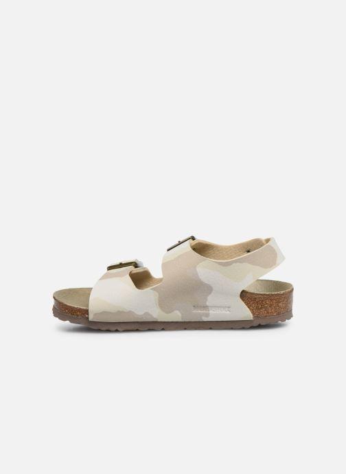 Sandales et nu-pieds Birkenstock Milano Kids Beige vue face