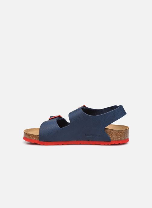 Sandali e scarpe aperte Birkenstock Milano Birko Flor Azzurro immagine frontale