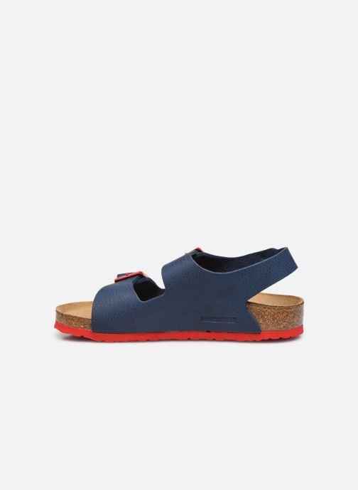 Sandales et nu-pieds Birkenstock Milano Birko Flor Bleu vue face