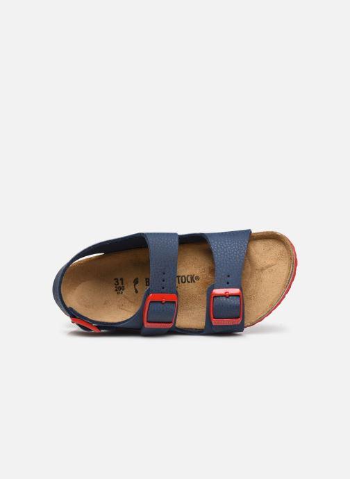 Sandali e scarpe aperte Birkenstock Milano Birko Flor Azzurro immagine sinistra