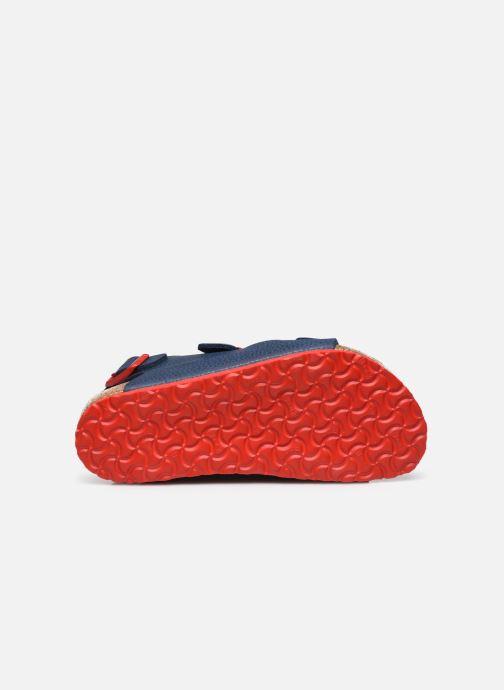 Sandales et nu-pieds Birkenstock Milano Birko Flor Bleu vue haut