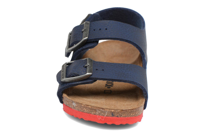 Sandalen Birkenstock Milano Kids blau schuhe getragen