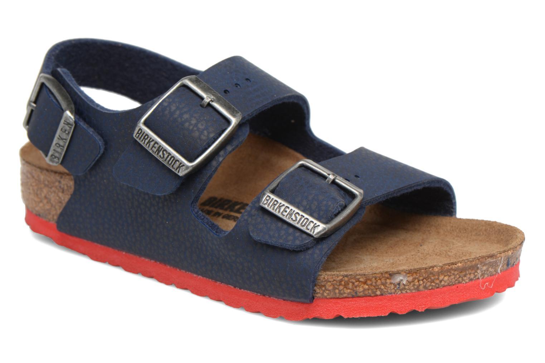 Sandales et nu-pieds Birkenstock Milano Kids Bleu vue détail/paire