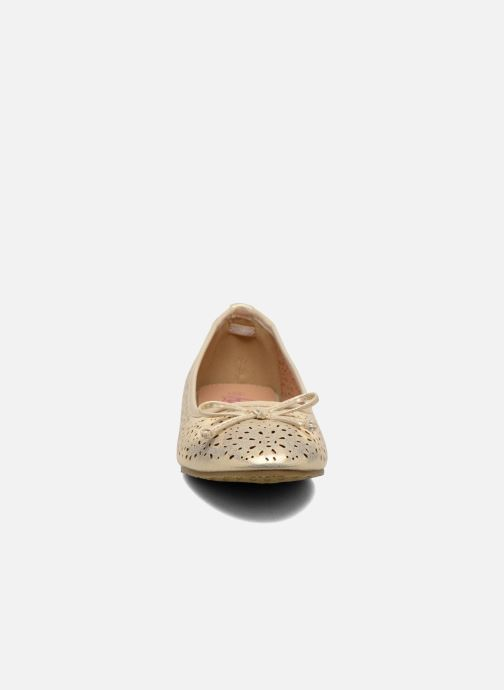 Ballerines Refresh Coline 61818 Or et bronze vue portées chaussures