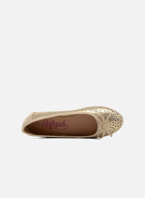 Ballerines Refresh Coline 61818 Or et bronze vue gauche