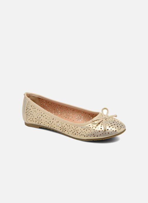 Bailarinas Refresh Coline 61818 Oro y bronce vista de detalle / par