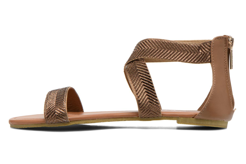 Sandales et nu-pieds Refresh Ballade 61831 Or et bronze vue face