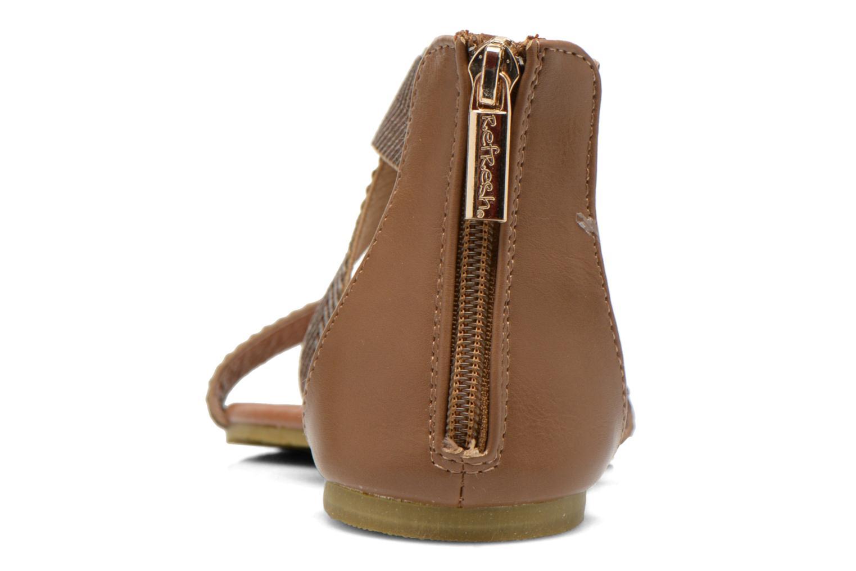 Sandales et nu-pieds Refresh Ballade 61831 Or et bronze vue droite