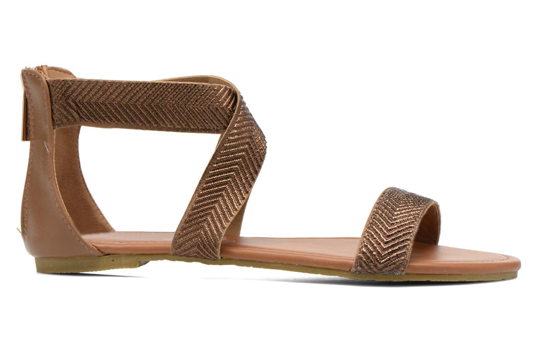 Sandales et nu-pieds Refresh Ballade 61831 Or et bronze vue derrière